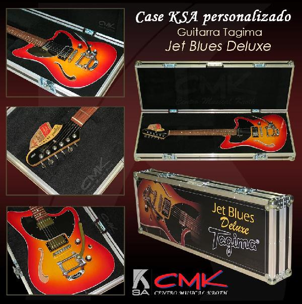 Foto do produto  Case KSA p/ Guitarra Tagima Jet Blues Deluxe