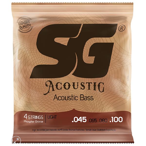 Foto do produto  Encordoamento p/ Violão 0.45 Acoustic Bass Light 4 Cordas SG – 6700