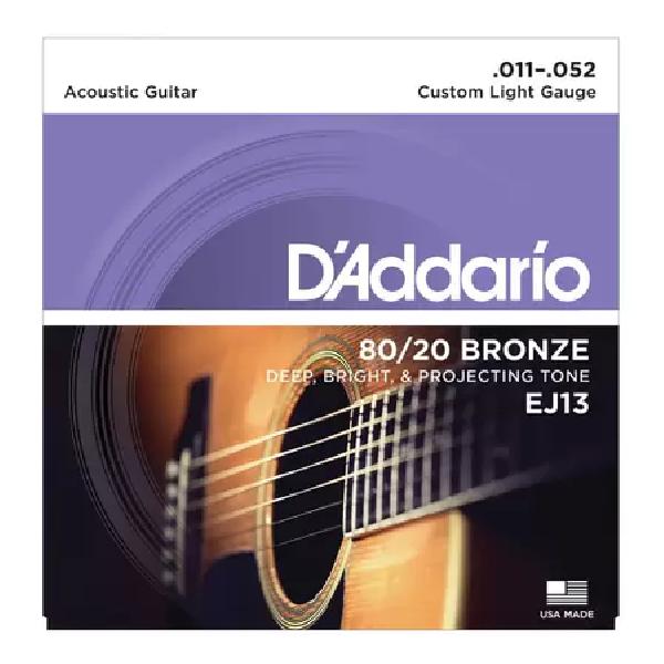 Foto do produto  Encordoamento Violão Aço D'Addario Bronze 80/20 011 - EJ13