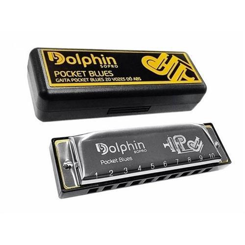 Foto do produto  Gaita Pocket Blues 20 Vozes Do Abs - Dolphin