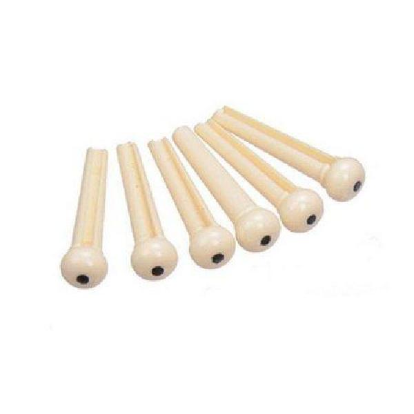 Foto do produto  KIT com 6 pinos brancos Plástico SMART para Violão