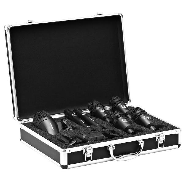 Foto do produto  Kit de microfones Drum Set Session I p/ bateria (7 peças)  - AKG