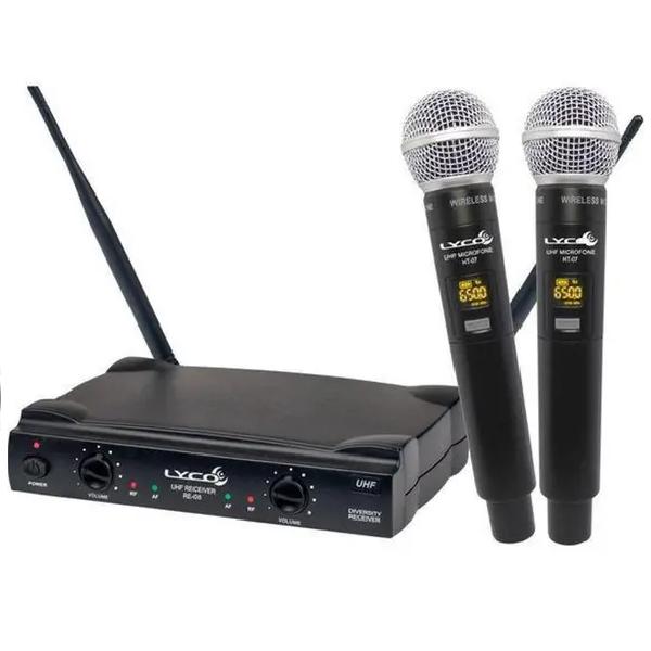 Foto do produto  Microfone Lyco duplo sem fio mão - UH02MM