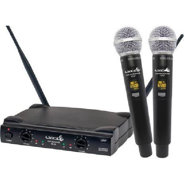 Foto do produto  Microfone Sem Fio Duplo Mão UH08MM -  Lyco