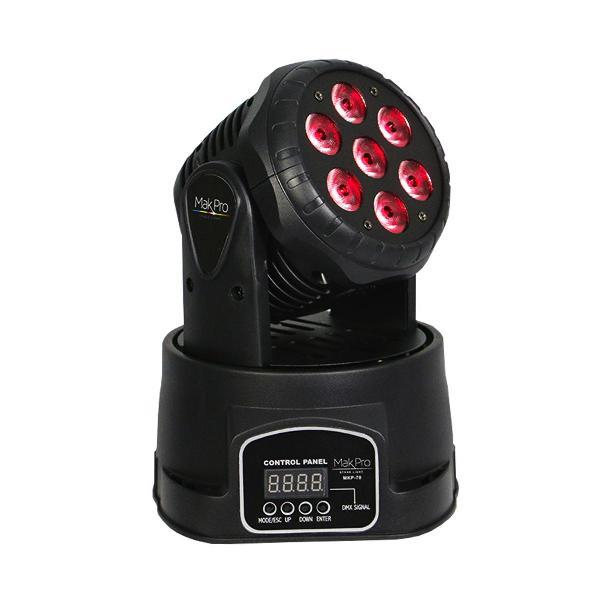 Foto do produto  MINI MOVING HEAD WASH LED 7X10W RGBW LED