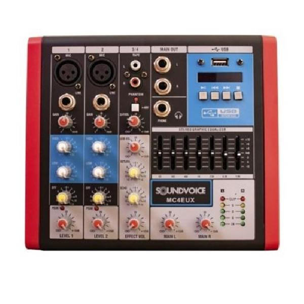 Foto do produto  Mixer Soundvoice - MC  -4 EUX