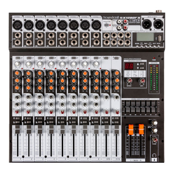 Foto do produto  Mixer SX1202FX USB - Soundcraft